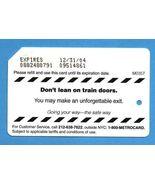 NYC Don't lean on train doors Metrocard - $4.99