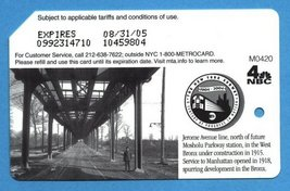 NYC Jerome Avenue Line centennial Metrocard in English - $4.99