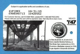 NYC Jerome Avenue Line centennial Metrocard in Spanish - $4.99