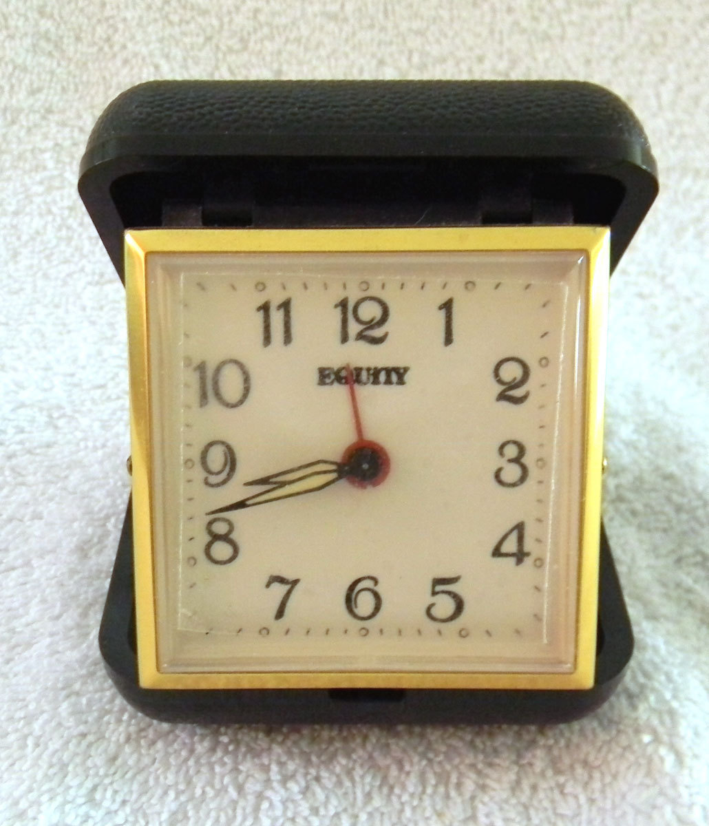 Vintage Equity Wind Up Travel Alarm Clock And 10 Similar Items