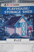 UCANDO~#PP12013~Play House~Storage Shed~Blueprints for 8' x 12' - $9.79