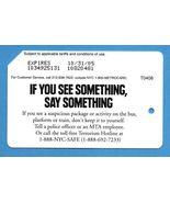 NYC See Something Say Something Metrocard - $4.99