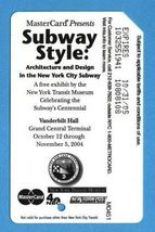 NYC Subway Style centennial Metrocard  - $4.99