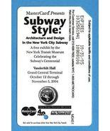 NYC Subway Style centennial Metrocard  - $4.99
