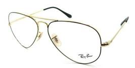 Ray-Ban Rx Eyeglasses Frames RB 6489 2946 58-14-140 Black / Gold Aviator - $137.20