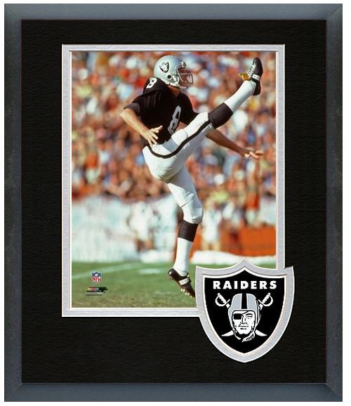 "Ray Guy Oakland Raiders Circa 1976 - 11"" x 14"" Team Logo Matte/Framed Photo"