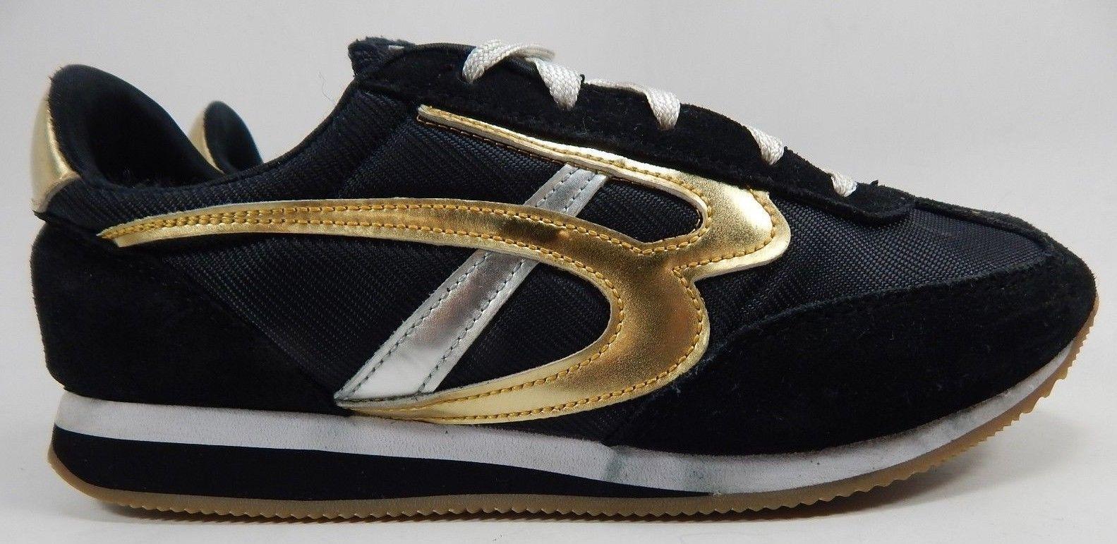 Bobs Hollywood Fashion Sneaker Suede Women's Size US 8 M (B) EU 38 Black / Gold