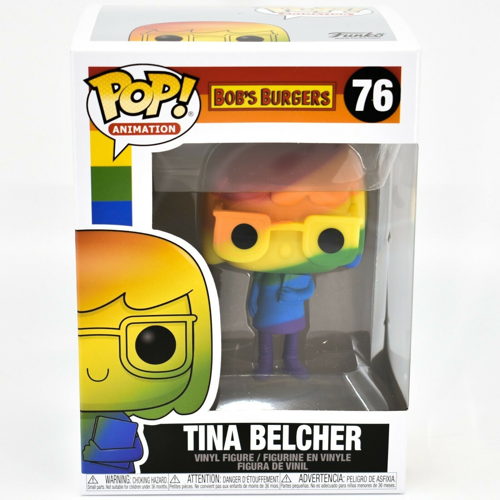 Funko Pop! Animation Bob's Burgers Pride 2021 Rainbow Tina Belcher #76 Figure