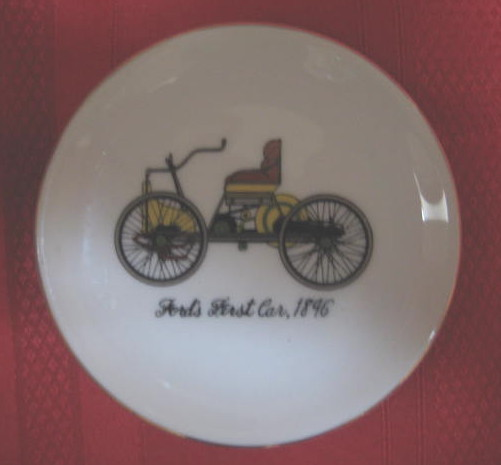 Commemorative Dish- FORD's FIRST CAR, 1896 - MINT COND.