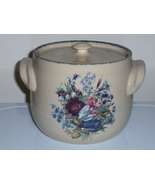 Home And Garden Party  Bean Pot Floral Splendor Cooke Jar Canister Keepe... - $24.99