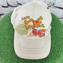 Leaping Bullfrog Boys One Sz Hat Beige Adjustable Baseball Cap Flaw - $9.89