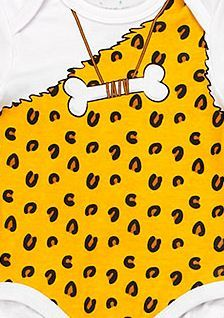 Baby Onesies Caveman Infant Bodysuits One Pieces Leopard MSRP $30.00 SAVE $10