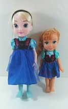 "Set of 2 Includes Disney 15"" Elsa & 12"" Ana Toddler Hard Dolls Frozen B274 - $29.99"