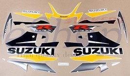 Suzuki GSX-R GSXR 600 2002 k2 full decals set stickers kit Black Yel ver... - $89.00