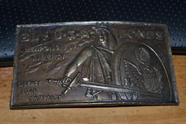 Vintage Buy USA Bonds Weapons For Liberty Loan Belt Buckle u-37 weird ma... - $24.45