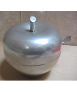 Preisner Pewter Apple Jam Compote w/ spoon Exc cond. - $79.99