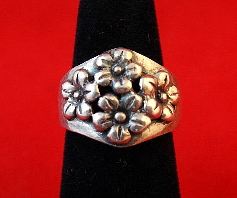 Sterling 2520silver 2520daisies 2520ring 25202