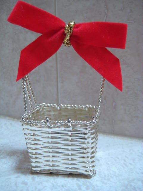 SilverPlate Woven Basket - Easter Decor