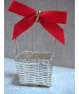 SilverPlate Woven Basket - Easter Decor - $4.99