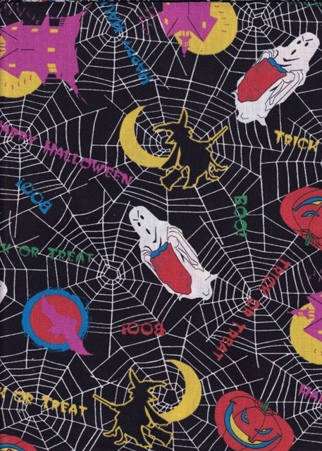 GHOST SPIDER WEB HAUNTED HOUSE HALLOWEEN FABRIC OAKHURST TEXTILES