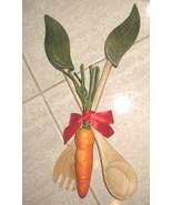 Wooden Leaf Salad Server Gift Set - Brand New- - $8.99