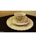 Haviland Limoges Orsay Swirl Pattern Orchids Trio Set Cake Plate, Cup & ... - $24.99