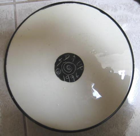 Art Pottery Extra Large Dog Dish- New