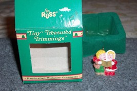 Christmas Ornament Russ Tiny Treasured Trimmings Carolers 5610 FREE SHIPPING - $6.51