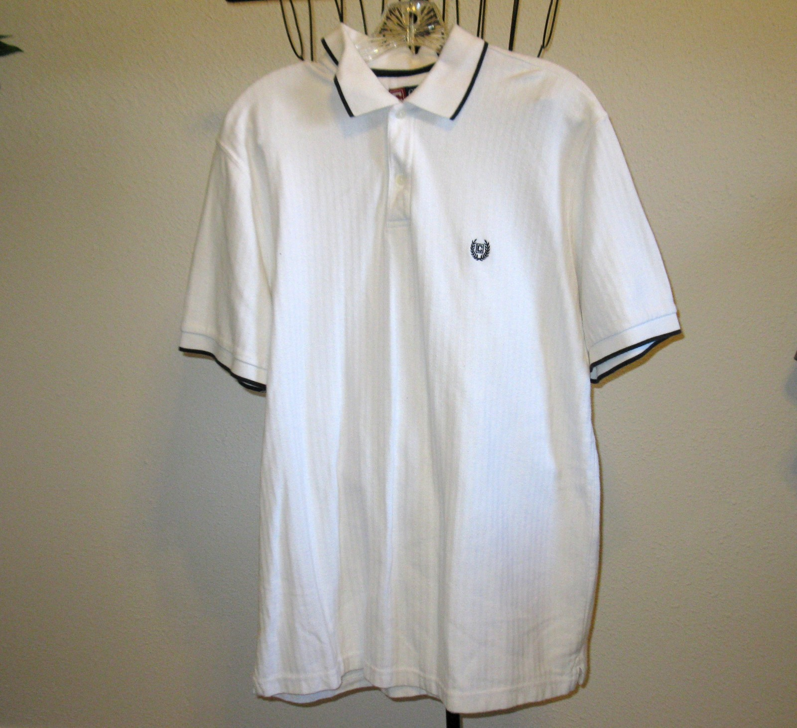 White Men's Golf Shirt by Chaps Size L/G (Large) Nice! #T845