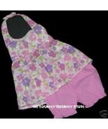 NEW NWT 2 Pc PINK FLORAL HALTER Dress Outfit Sz 24 M - $9.99