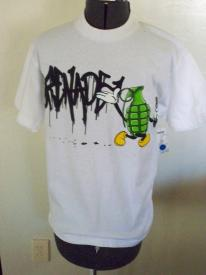 MENS GRENADE DRIP GRAFFITI TEE T SHIRT WHITE  DRIP LOGO/GRENADE SMALL NEW $27