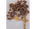 Brown and gold pearls rosary 1 thumb155 crop