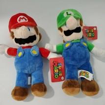 """Nintendo 11"""" Super Mario and Luigi Licensed Stuffed Plush Dolls 2018 Goo... - $19.80"""