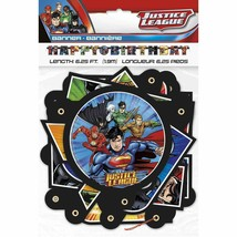 Justice League Jointed Birthday Banner  - £4.55 GBP
