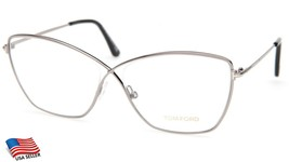 New Tom Ford Tf 5518 014 Silver Eyeglasses Frame 57-13-140mm 47mm Italy - $131.66