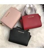 NWT Michael Kors SELMA Mini Saffiano Leather Crossbody Bag - $98.99
