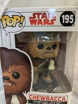 Funko POP Star Wars #195 The Last Jedi - Chewbacca with Porg Vinyl NIB - $29.03
