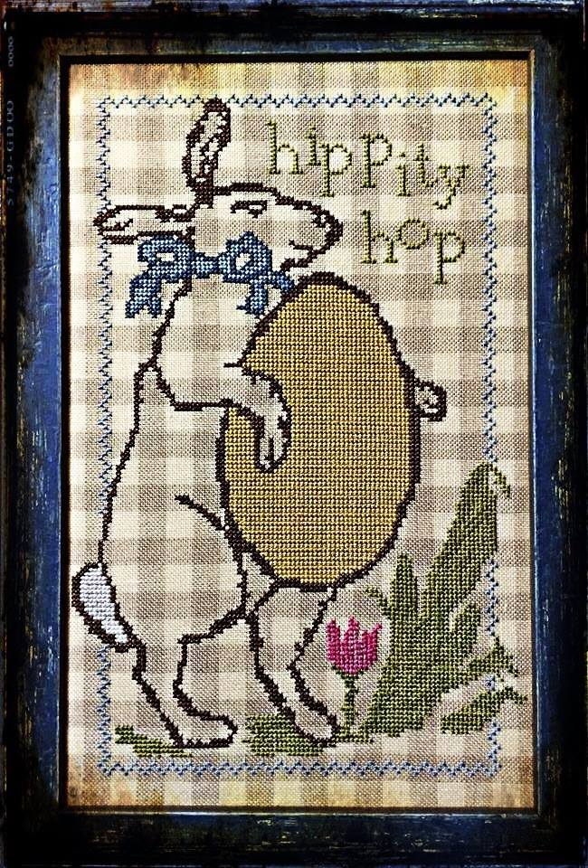 Hippity Hop bunny easter cross stitch chart Needlework Press