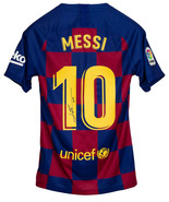 Lionel Messi Signed Nike FC Barcelona Soccer Jersey Icons Messi LOA - $688.69