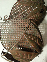 Large Bronze floral wall tins decor - $15.00