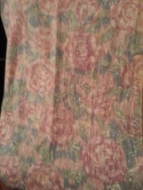 Swag scarf, green and Pink,  window treatment - $13.86