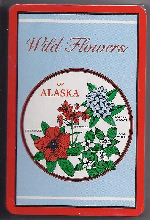 Playing cards wild flowers of alaska