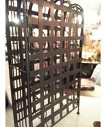 Large wrought iron wine bottle caddy, cage - $30.00