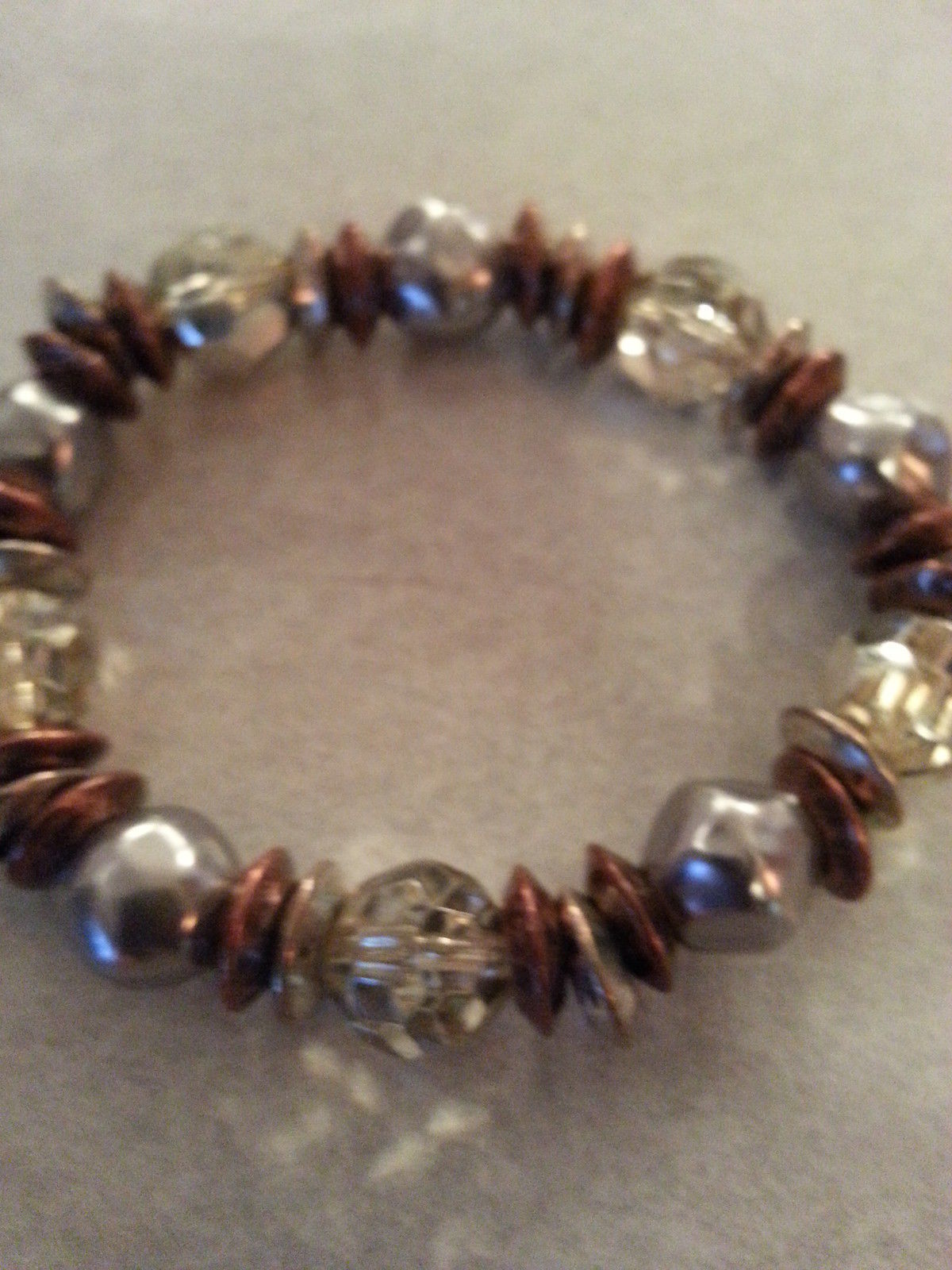 Bracelet. stretch style with glass beading