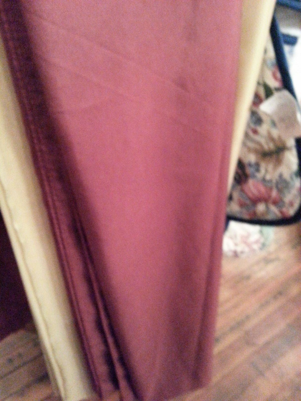 Burgandy swag scarf. curtains, window treatments