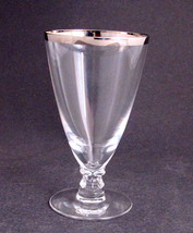 Signed Fostoria platinum 6 piece stemware glass wedding - $26.77