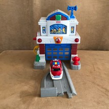 Fisher Price GeoTrax Beam town Fire Station first version truck track set - $19.50