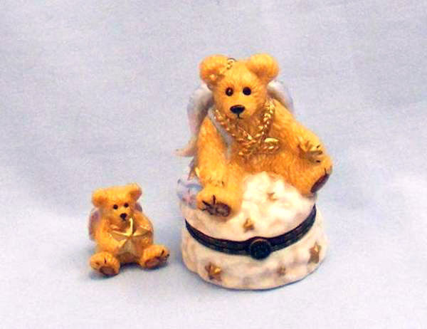 "Primary image for Boyds Le Bearmoge Porcelain Box ""Clarence Angel Bear"" #392005 -NIB-1998- Retired"