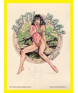 Steve Woron's No.5!~Bettie Page Jungle Queen SN'd of only 100 COLOR - $35.59