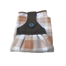 Handmade Fall Hanging Dish Towel Welcome Patch Sewed Top Brown Plaid-Set... - $18.69